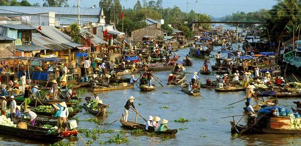 Marche flottant Cai Rang à Can Tho