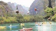 Escalade de la grotte Phong Nha Ke Bang