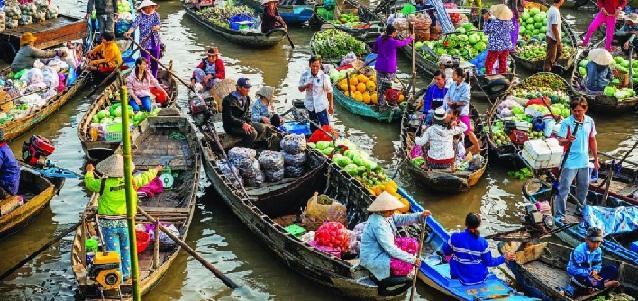 Cân Tho belle ville asiatique aux beaux paysages