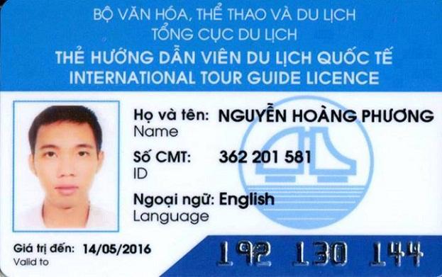 Carte de licence de guide international du Vietnam - Prix guide francophone au vietnam