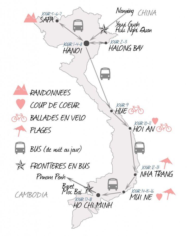 Carte Et Histoire Ligne Chemin De Fer Du Train Au Vietnam