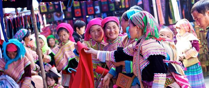 circuit visite marché Bac Ha