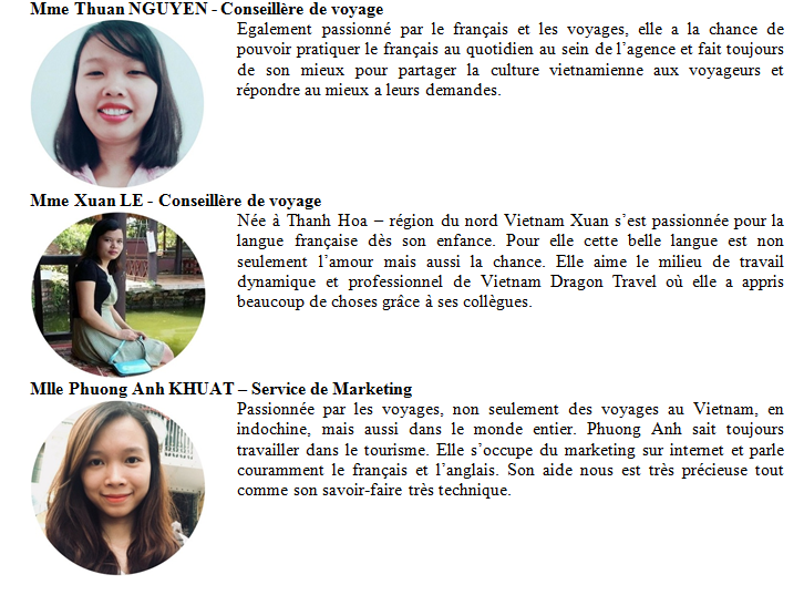 Agence locale Vietnam Dragon Travel & equipe experts