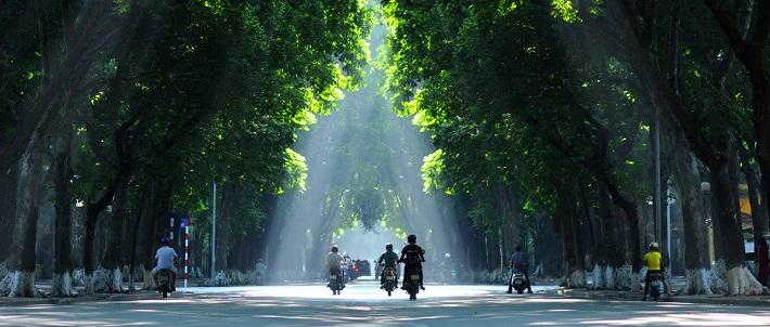 La rue Phan Dinh Phung de Hanoi
