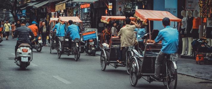 cyclo pousse au Vietnam