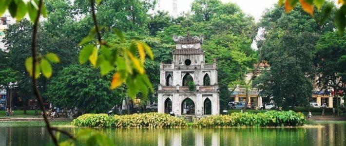 Lac de l'Épée restitué - lac de Hoan Kiem de Hanoi