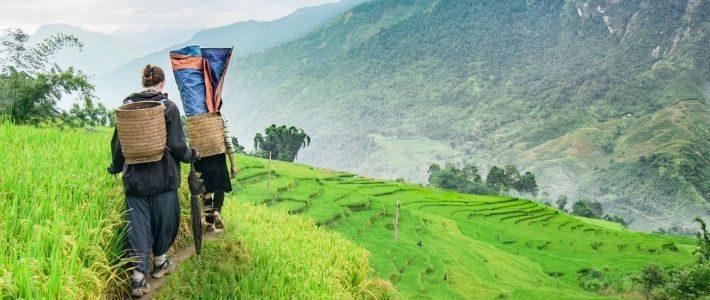 visite des riziere en terrasse à Sapa