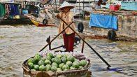 Visite marché delta du Mékong du Vietnam