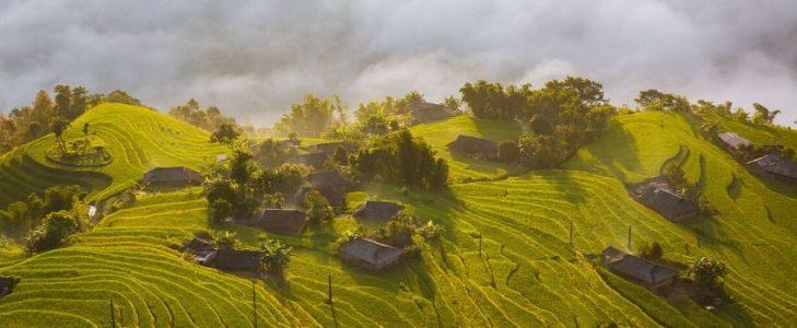 Champs en terrasses Hoang Su Phi Vietnam - Circuit combiné Vietnam Laos Cambodge