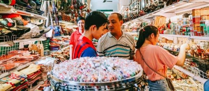 Paradis du shopping du Vietnam